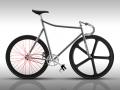 custom handbuilt steel frame for track bike
